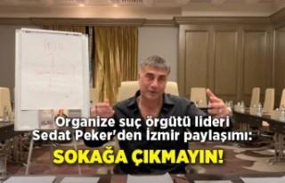 Organize suç örgütü lideri Sedat Peker'den...