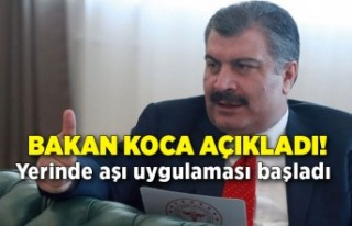Sağlık Bakanı Fahrettin Koca açıkladı! Yerinde...