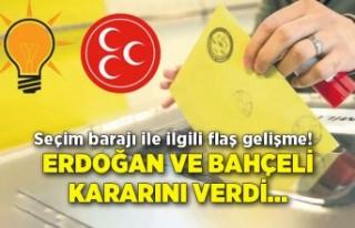 Seçim barajı ile ilgili flaş gelişme! Erdoğan...