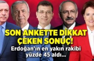 Son ankette dikkat çeken sonuç! Erdoğan'ın en...