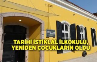 Tarihi İstiklal İlkokulu, yeniden çocukların oldu