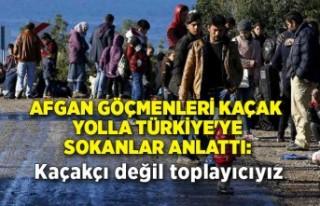 Afgan göçmenleri kaçak yolla Türkiye'ye sokanlar...