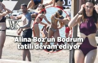 Alina Boz'un Bodrum tatili devam ediyor