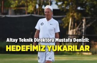 Altay Teknik Direktörü Mustafa Denizli: Hedefimiz...