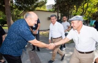 Başkan Soyer Bayraklı'da deprem sonrası süreçle...