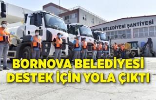 Bornova Belediyesi destek için yola çıktı