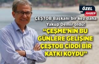 ÇEŞTOB Başkanı bir kez daha Yakup Demir oldu!