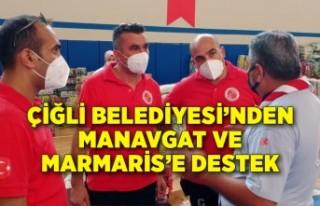 Çiğli Belediyesi'nden Manavgat ve Marmaris'e...