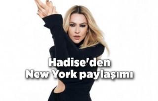 Hadise'den New York paylaşımı