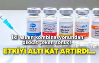 İki aşının kombinasyonundan dikkat çeken sonuç!...