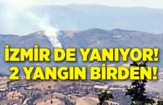 İzmir de yandı! 2 yangın birden!