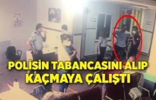 İzmir'de yardım istediği polisin tabancasını...