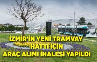 İzmir'in yeni tramvay hattı için araç alımı...