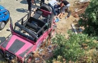 Safari aracı şarampole yuvarlandı: 1 ölü, 9 yaralı