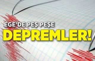 Ege açıklarında peş depremler