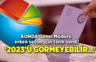 KONDA Genel Müdürü erken seçim için tarih verdi!...