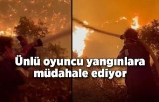 Oyuncu İbrahim Çelikkol, Milas'taki orman yangınına...
