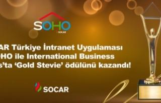 SOCAR Türkiye, 'Gold Stevie' ödülünü...