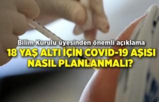 18 yaş altı için COVID-19 aşısı nasıl planlanmalı?...