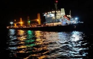 Bozcaada açıklarında gemi kazası