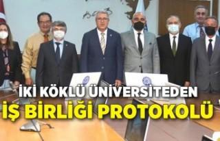 İki köklü üniversiteden iş birliği protokolü