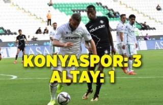 İttifak Holding Konyaspor: 3 - Altay: 1