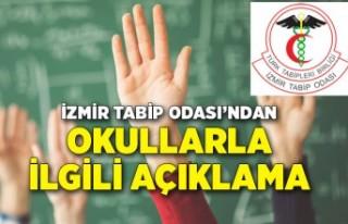 İzmir Tabip Odası'ndan okullarla ilgili açıklama
