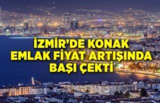 İzmir'de Konak emlak fiyat artışında başı...