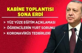 Kabine Toplantısı sona erdi! Erdoğan'dan öğrencilere...