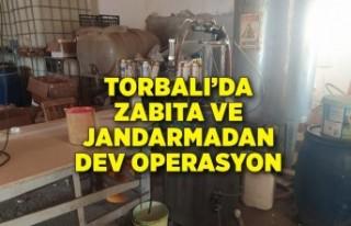 Torbalı'da zabıta ve jandarmadan dev operasyon