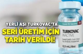 Yerli aşı Turkovac'ta seri üretim için tarih...
