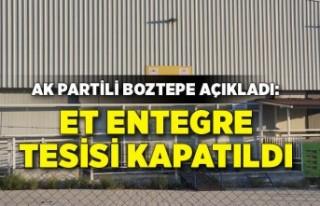 AK Partili Boztepe açıkladı: Et entegre tesisi...