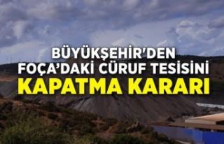 Büyükşehir'den Foça'daki cüruf tesisini...