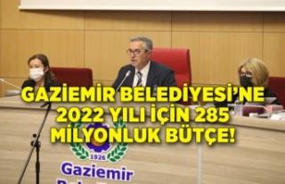 Gaziemir Belediyesi'ne 2022 yılı için 285 milyonluk...