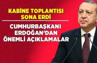 Kabine toplantısı sona erdi! Erdoğan'dan koronavirüs...