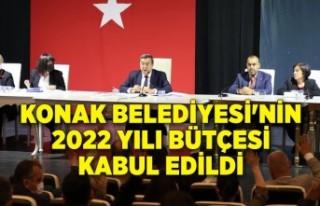 Konak Belediyesi'nin 2022 yılı bütçesi kabul...
