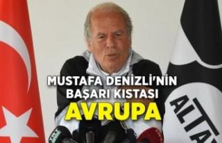Mustafa Denizli'nin başarı kıstası Avrupa
