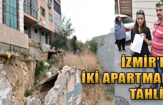 İzmir'de İki Apartmana Tahliye