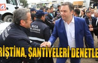Başkan Piriştina, Şantiyeleri Gezdi