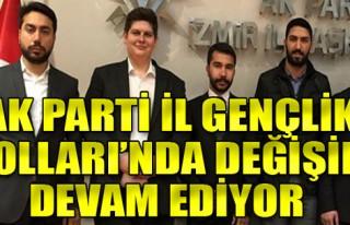 AK Parti İzmir İl Gençlik Kolları'nda değişim...