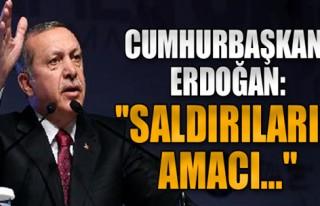 Cumhurbaşkanı'ndan Taksim Açıklaması