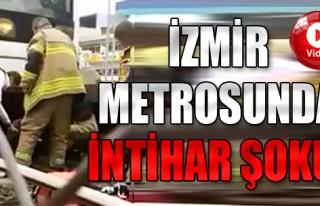 İzmir Metrosunda İntihar Şoku!