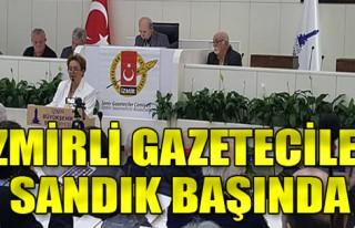 İzmirli gazeteciler sandık başında