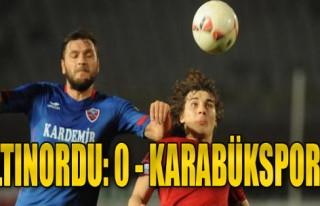 Altınordu-Karabükspor: 0-0