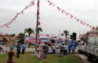 Adana'da Bayrak Gerginliği