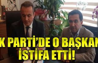AK Parti İzmir'de flaş gelişme: O başkan istifa...
