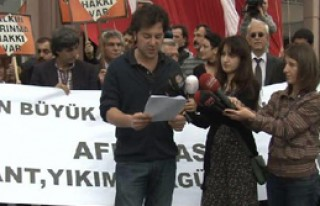 İstanbul'da Kentsel Dönüşüm Protestosu