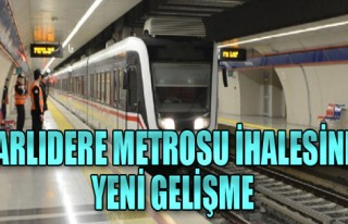 Narlıdere Metrosu ihalesinde yeni gelişme!
