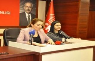 CHP'li kadınlardantepki