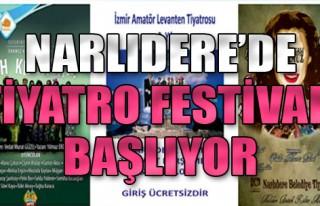 Narlıdere'de Tiyatro Festivali Başlıyor